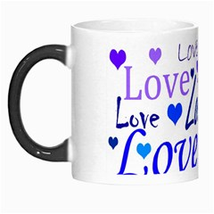 Blue and purple love pattern Morph Mugs