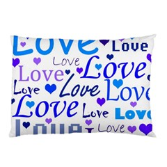 Blue and purple love pattern Pillow Case