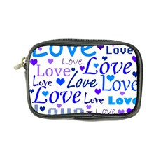 Blue and purple love pattern Coin Purse
