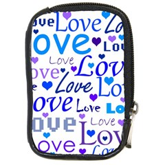 Blue and purple love pattern Compact Camera Cases