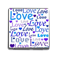 Blue and purple love pattern Memory Card Reader (Square)