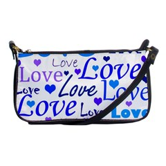Blue and purple love pattern Shoulder Clutch Bags