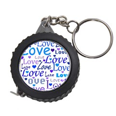 Blue and purple love pattern Measuring Tapes