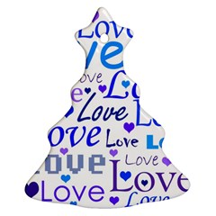 Blue and purple love pattern Ornament (Christmas Tree)