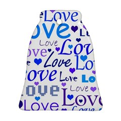Blue and purple love pattern Ornament (Bell)