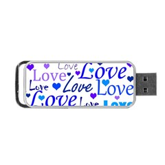 Blue and purple love pattern Portable USB Flash (One Side)
