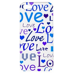 Blue and purple love pattern Apple iPhone 5 Hardshell Case