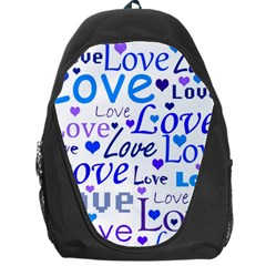 Blue and purple love pattern Backpack Bag