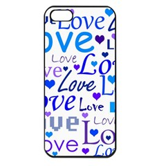 Blue and purple love pattern Apple iPhone 5 Seamless Case (Black)