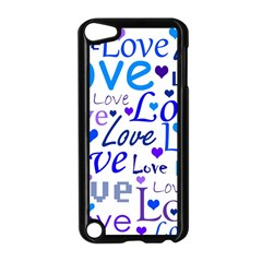 Blue and purple love pattern Apple iPod Touch 5 Case (Black)