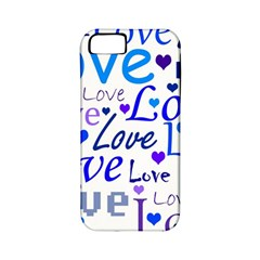 Blue and purple love pattern Apple iPhone 5 Classic Hardshell Case (PC+Silicone)