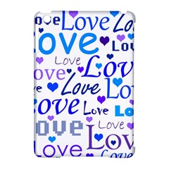 Blue and purple love pattern Apple iPad Mini Hardshell Case (Compatible with Smart Cover)