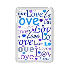 Blue and purple love pattern iPad Mini 2 Enamel Coated Cases