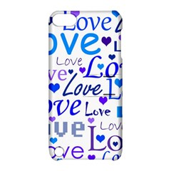 Blue and purple love pattern Apple iPod Touch 5 Hardshell Case with Stand