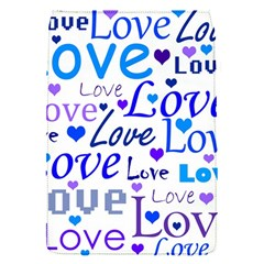 Blue and purple love pattern Flap Covers (S)