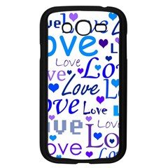 Blue and purple love pattern Samsung Galaxy Grand DUOS I9082 Case (Black)
