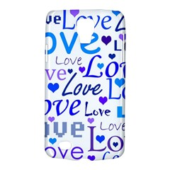Blue and purple love pattern Galaxy S4 Active