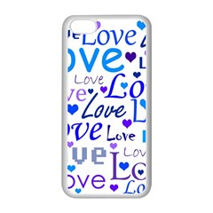 Blue and purple love pattern Apple iPhone 5C Seamless Case (White)