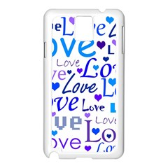 Blue and purple love pattern Samsung Galaxy Note 3 N9005 Case (White)