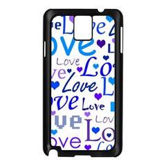 Blue and purple love pattern Samsung Galaxy Note 3 N9005 Case (Black)