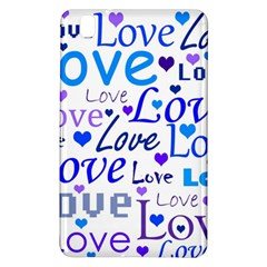 Blue and purple love pattern Samsung Galaxy Tab Pro 8.4 Hardshell Case