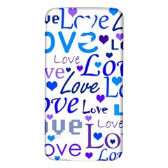 Blue and purple love pattern Samsung Galaxy S5 Back Case (White)