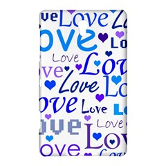 Blue and purple love pattern Samsung Galaxy Tab S (8.4 ) Hardshell Case