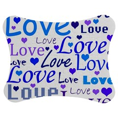 Blue and purple love pattern Jigsaw Puzzle Photo Stand (Bow)