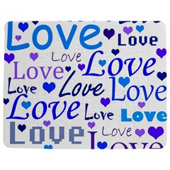 Blue and purple love pattern Jigsaw Puzzle Photo Stand (Rectangular)