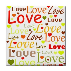 Valentine s day pattern Tile Coasters