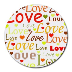 Valentine s day pattern Round Mousepads
