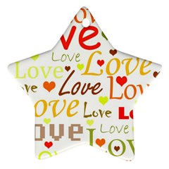 Valentine s day pattern Ornament (Star)