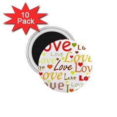 Valentine s day pattern 1.75  Magnets (10 pack)