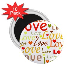 Valentine s day pattern 2.25  Magnets (10 pack)