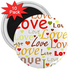Valentine s day pattern 3  Magnets (10 pack)