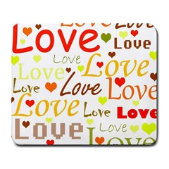 Valentine s day pattern Large Mousepads