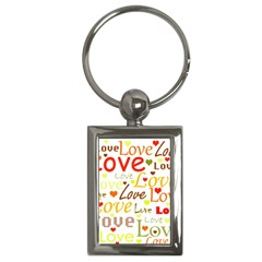 Valentine s day pattern Key Chains (Rectangle)