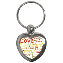 Valentine s day pattern Key Chains (Heart)