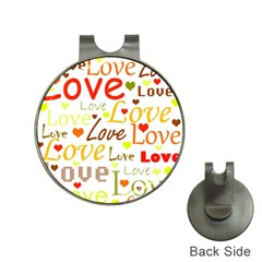 Valentine s day pattern Hat Clips with Golf Markers