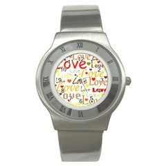 Valentine s day pattern Stainless Steel Watch
