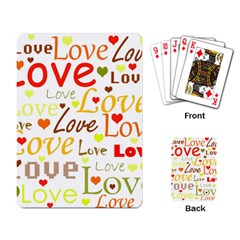 Valentine s day pattern Playing Card