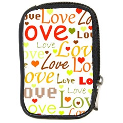 Valentine s day pattern Compact Camera Cases