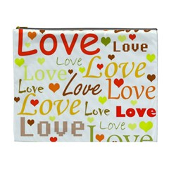 Valentine s day pattern Cosmetic Bag (XL)