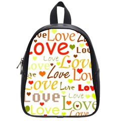 Valentine s day pattern School Bags (Small)