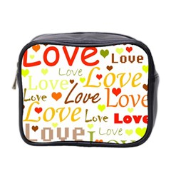 Valentine s day pattern Mini Toiletries Bag 2-Side