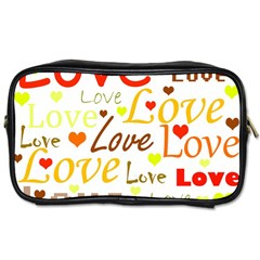 Valentine s day pattern Toiletries Bags 2-Side