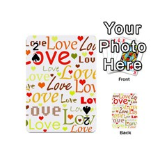 Valentine s day pattern Playing Cards 54 (Mini)