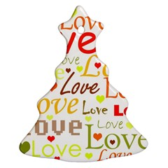 Valentine s day pattern Christmas Tree Ornament (2 Sides)