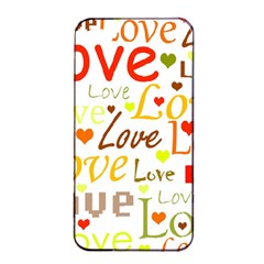 Valentine s day pattern Apple iPhone 4/4s Seamless Case (Black)