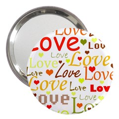 Valentine s day pattern 3  Handbag Mirrors